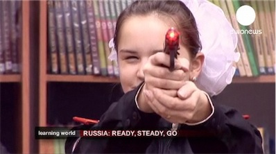 Russian Girls Cadets school for Learning World